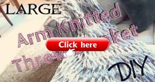 ▶ DIY Décor ♥ Large Arm Knitted Throw Blanket for Beginners - YouTube