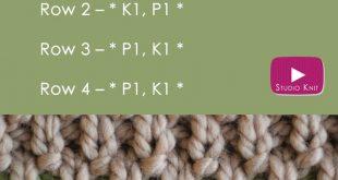 How to Knit the IRISH MOSS Stitch Pattern with