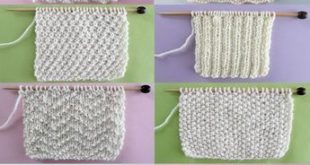 Knit and Purl Stitch Patterns