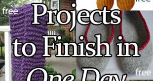One Day Knitting Projects