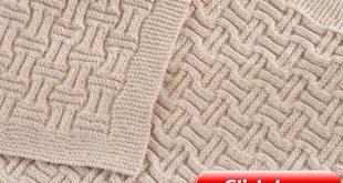 Reversible Baby Blanket KNITTING PATTERN - Double Basket Weave Blanket- Beginner Knitting Blanket Pattern - Digital File Instant Download