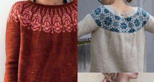 10 Top Down Seamless Raglan Sweater Patterns