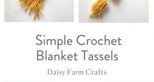 Free Pattern - Simple Crochet Blanket Tassels
