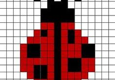 Ladybug Chart pattern by Annie Brunet - duplicate stitching for your knitting pr...