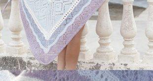 Free Knitting Pattern for a Lace Shawl Liljesjal