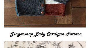 Gingersnap Baby Cardigan Free Knitting Pattern – Knitting Projects