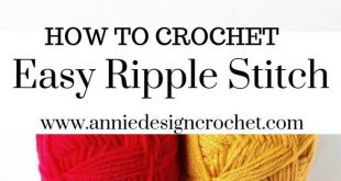 How to crochet easy ripple stitch, perfect for blankets and scarfs