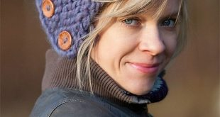 One Hour Hat Knitting Patterns - Buttoned garter stitch hat is very easy to knit...
