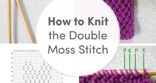 Stitch School: Double Moss Stitch with Anna Nikipirowicz