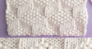 This Tumbling Moss Block Stitch Knitting Pattern creates an illusion with 3 various textured patterns with a 20-Row Repeat of knits and purls.