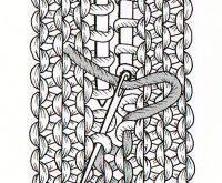Beim Zusammennähen werden zwei Strickteile unsichtbar miteinander verbunden, be...