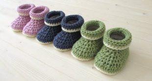 Babyboots häkeln - Babyschuhe - crochet - Boots - Schuhe - Baby - Babysocke - Y...