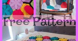 Crochet Hexagon Blanket - Free Patterns