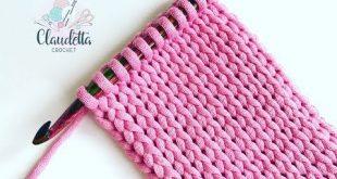 Crochet Scrunchies - TUNESISCH HÄKELN Strickmuster häkeln ganz einfach