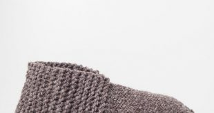 DIY bequeme Hausschuhe selber stricken