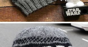 Free Knitting Pattern for Storm Trooper Beanie - Star Wars inspired hat knit wit...