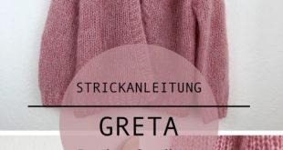 GRETA - Oversize Raglan Cardigan mit Blende