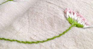 Gestickte Gänseblümchen - 10 Minuten DIY