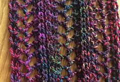 I have knit this scarf using needle sizes 10.5, 11, and 13. Try knitting a swatc...