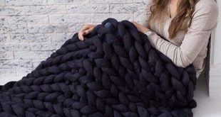 Inverse growth Handmade Chunky Knit Blanket Large Thick Wool Bulky Knitting Thro...