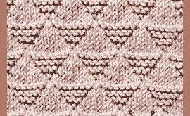 #Knit Pyramid stitch, Easy Knit Purl Pattern #easytoknit