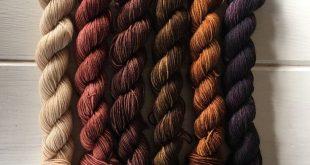 Shades of Brown Mini Skein Set - 75/25 SW Merino, Nylon - Sock Yarn - Fingering Yarn - Lagniappe Sock - 20 Grams