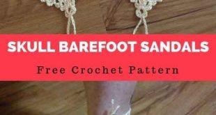 Skull Barefoot Sandals [Free Crochet Pattern]