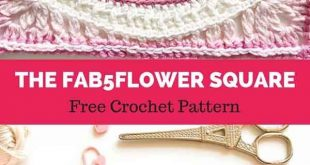 The Fab5Flower Square [ FREE CROCHET PATTERN