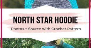 crochet North Star Hoodie sweater pattern